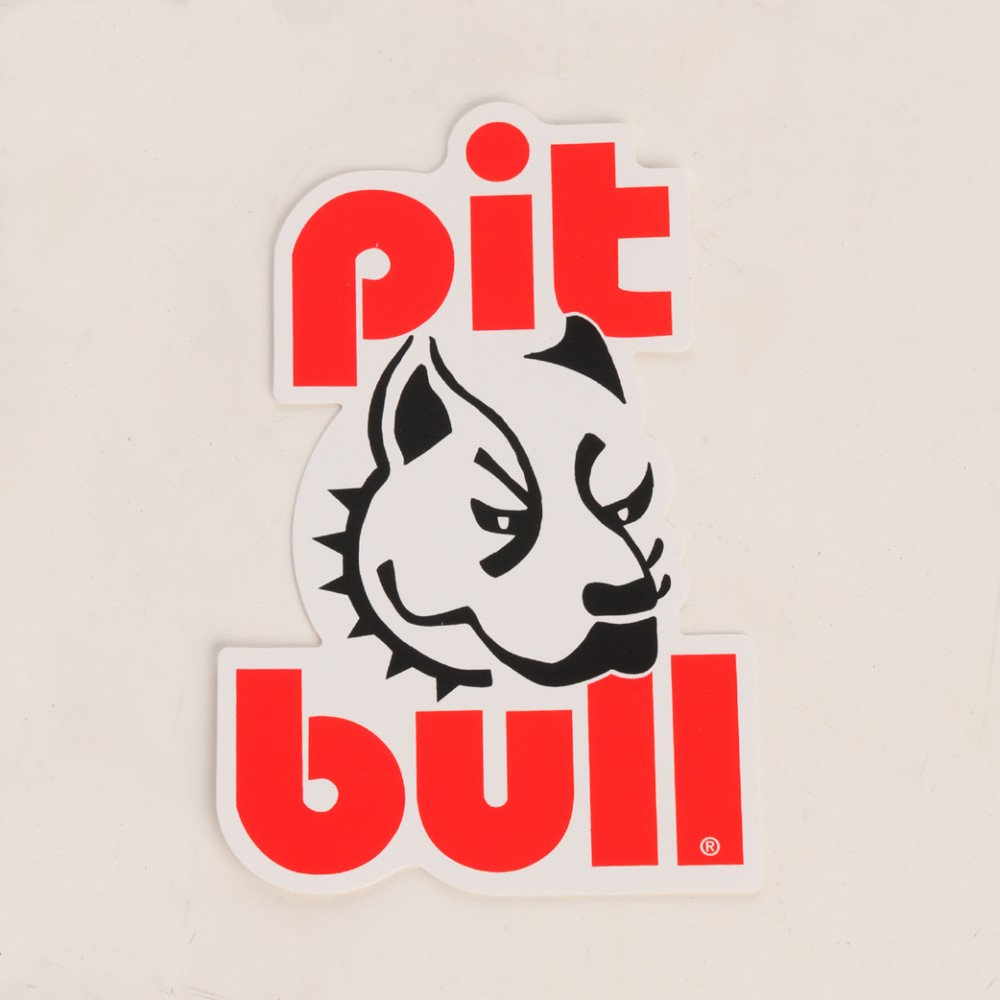 Pit Bull Printed Vertical Bike Sticker