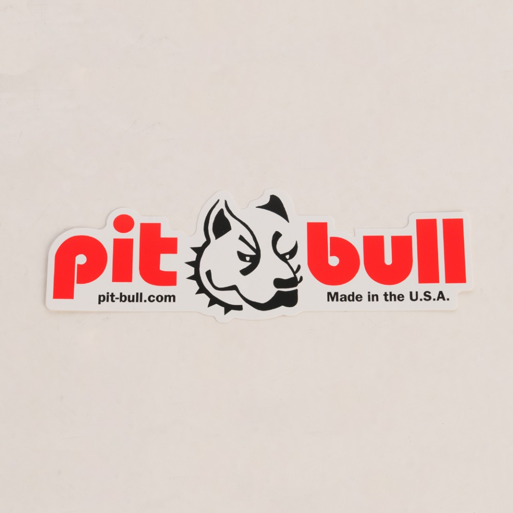 Pit Bull Printed Horizontal Swingarm Sticker